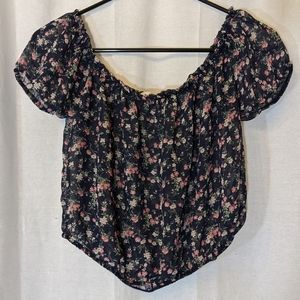 3 For $15 Teenbell Sheer Floral Blouse Sz L